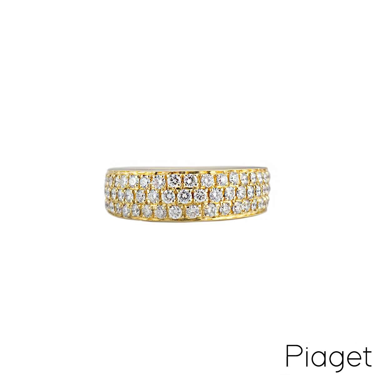 Piaget 18k Yellow Gold Diamond Set Dress Ring